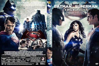 Filme Batman Vs Superman A Origem Da Justiça (Batman v Superman Dawn of Justice) DVD Capa