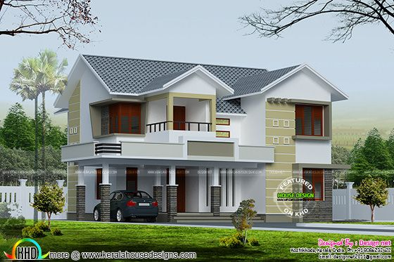 4 bedroom 2400 sq-ft sloping roof house