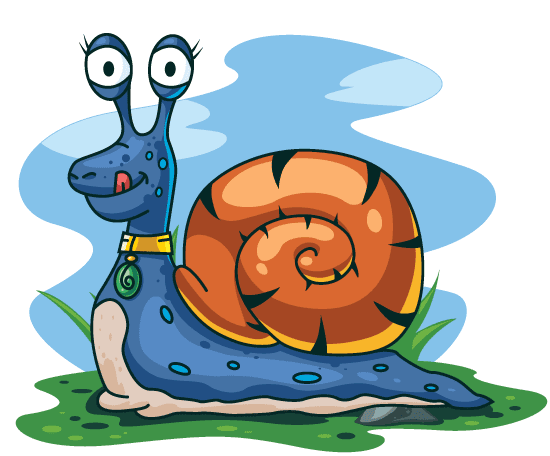 Simpático Caracol cartoon - vector