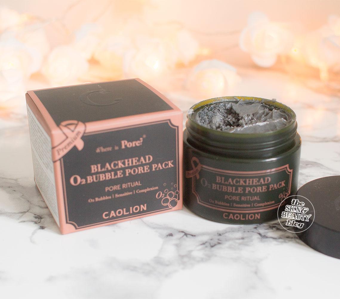 Caolion Premium O2 Bubble Pore Pack Peach & Lily Review