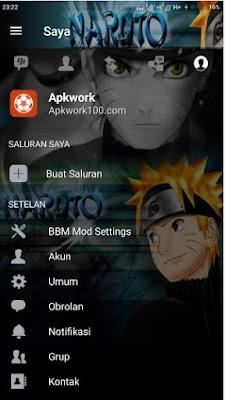 Download BBM Mod Naruto Shipudden v3.3.1.24 Clone Apk Terbaru 2017
