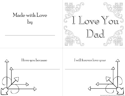 free keepsake gift book to print for Dad