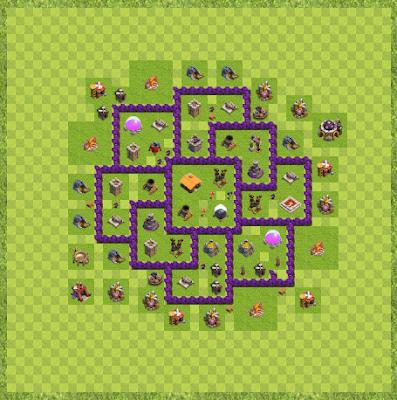 War Base Town Hall Level 7 By Hakim Winahyu (War Base of TH 7 Layout)