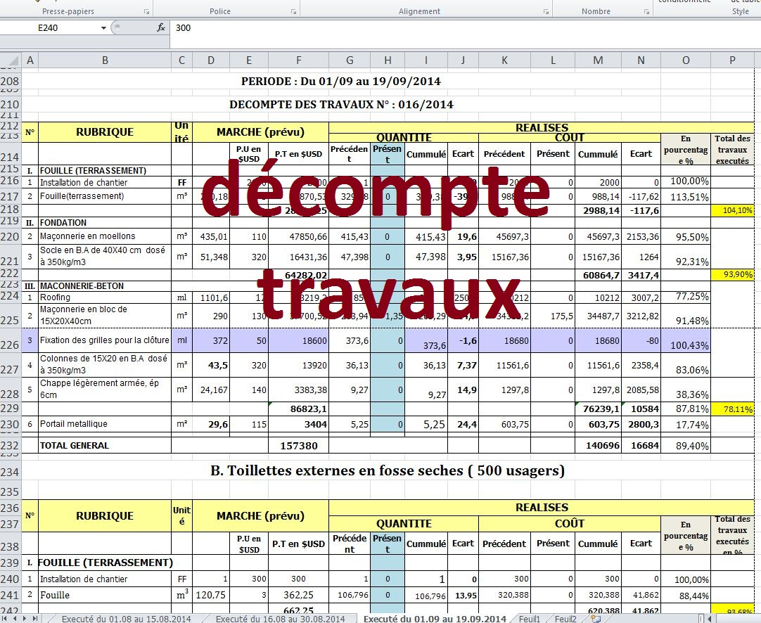 Planning travaux excel uv68 jornalagora for Liste construction maison