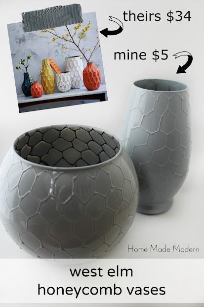 west elm knock off vases