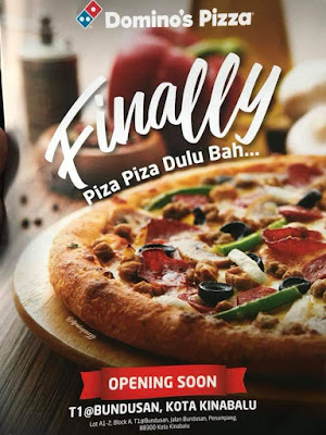 Domino's pizza , domino's pizza cawagan kota kinabalu , domino's pizza sabah ' , cawangan baru domino's pizza , jawatan kosong domino's pizza , review domino's pizza