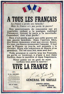 Appeal of June 18 to all frenchmen by Charles de Gaulle