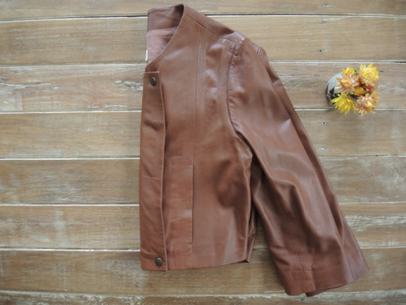 Gorman cropped leather jacket