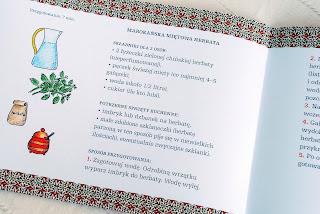 Wnętrze książeczki – przepis na herbatę miętową