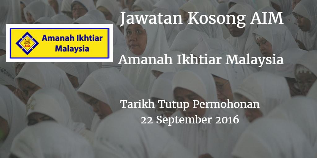 Jawatan Kosong AIM 22 September 2016