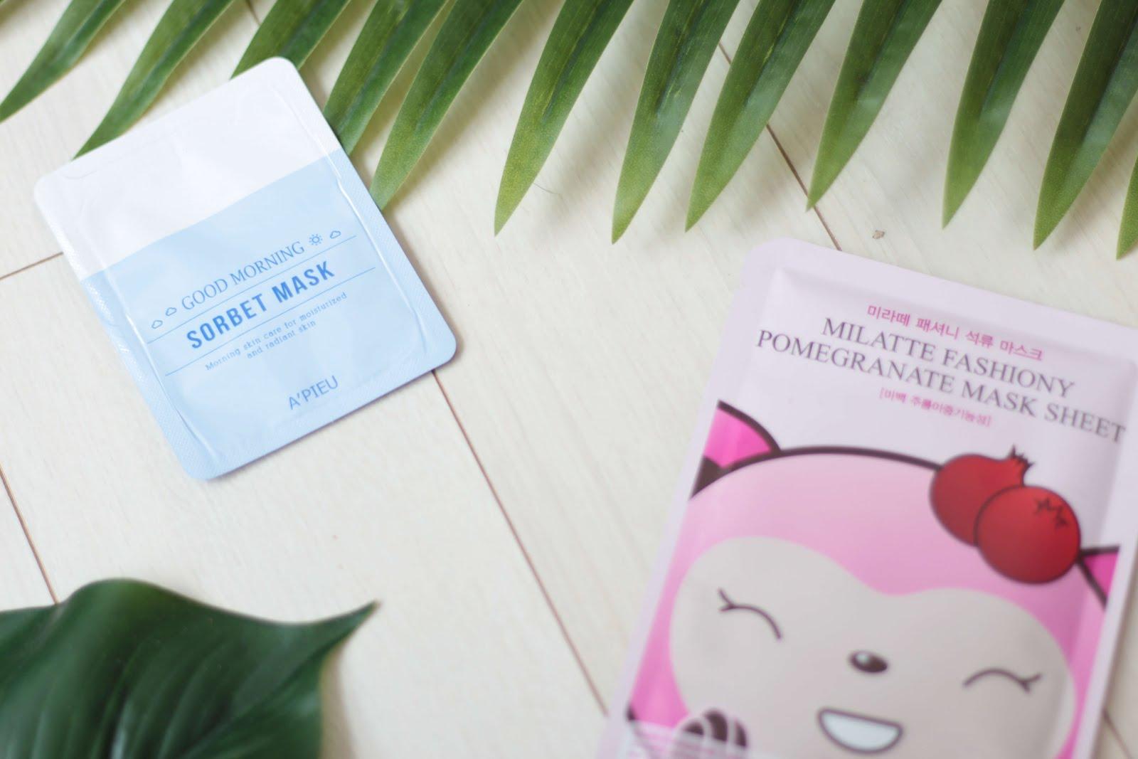 korean beauty blogger sheet mask collection