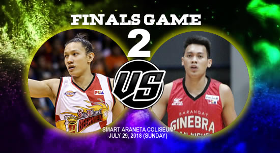 List of PBA Game(s): July 29 at Smart Araneta Coliseum 2018 PBA Commissioner's Cup Game 2