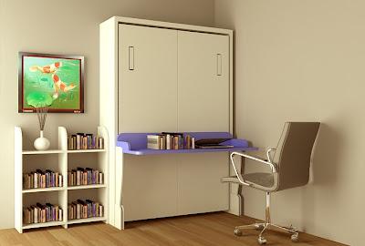 Giường gấp kết hợp bàn học 1.2 x 1.9 m
