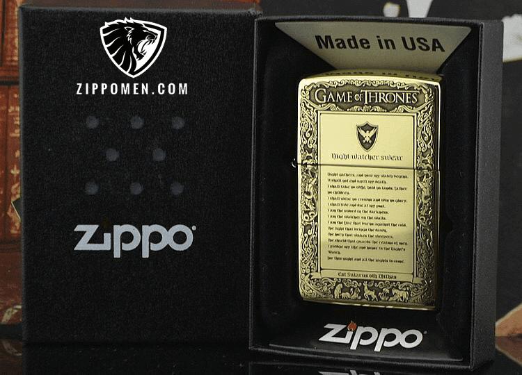 Zippo Game OF Thrones Cao Cấp Xuất Nhật | Zippo Men | Zippo usa