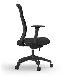 Zetto mesh chair side view
