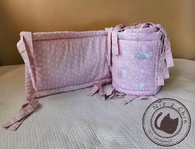 Ochraniacz do łóżeczka małej Helenki