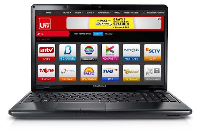 Cara Nonton TV di Laptop  Tanpa Internet