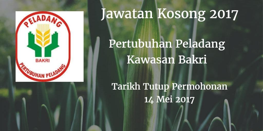 Jawatan Kosong Pertubuhan Peladang Kawasan Bakri 14 Mei 2017