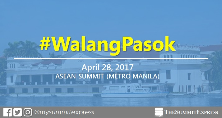 Palace declared class, work suspension on April 28, 2017 in Metro Manila