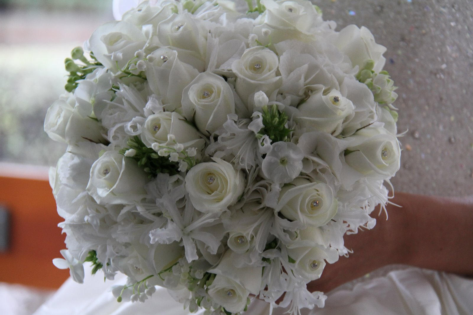The Flower Magician: All White Wedding Bouquet