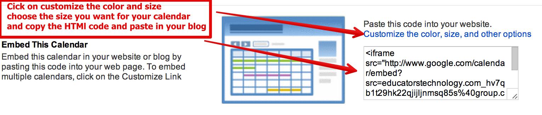 Teachers' Visual Guide to Using Google Calendar
