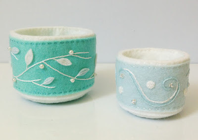 http://kbbcrafts.blogspot.com.es/2018/01/winter-blues-felt-baskets.html
