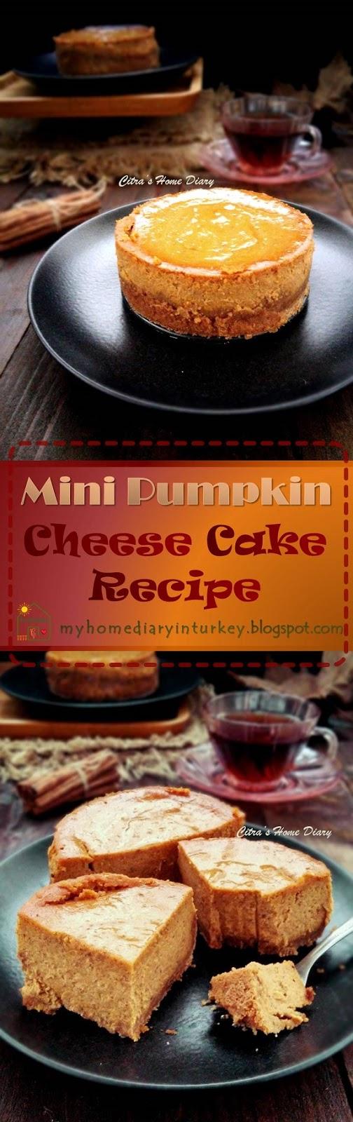 Mini Pumpkin CheeseCake / Cheesecake labu kuning