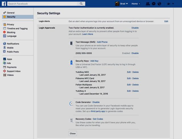 طريقة حماية حسابك في فيسبوك بواسطة مفتاح الأمان FIDO U2F Security Key