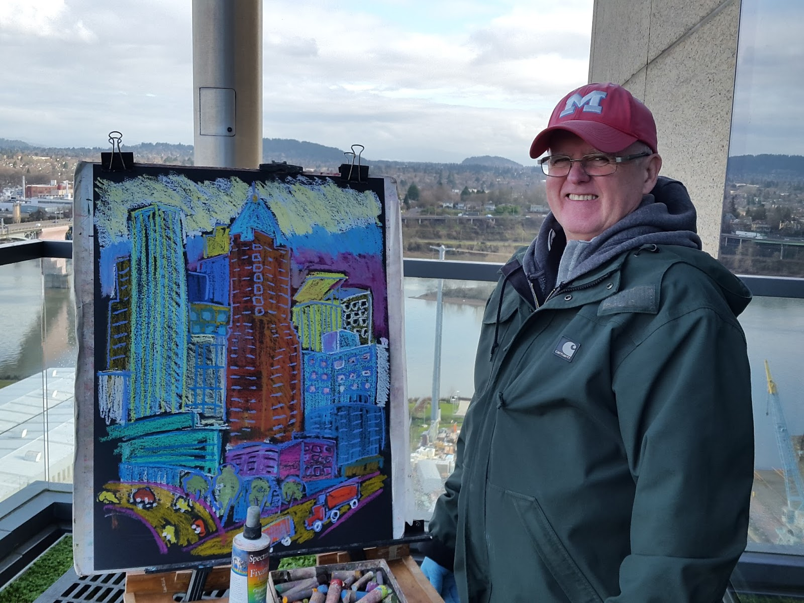 Plein air brooks painting from ohsu wellness center 16th for 16th floor paul kelly
