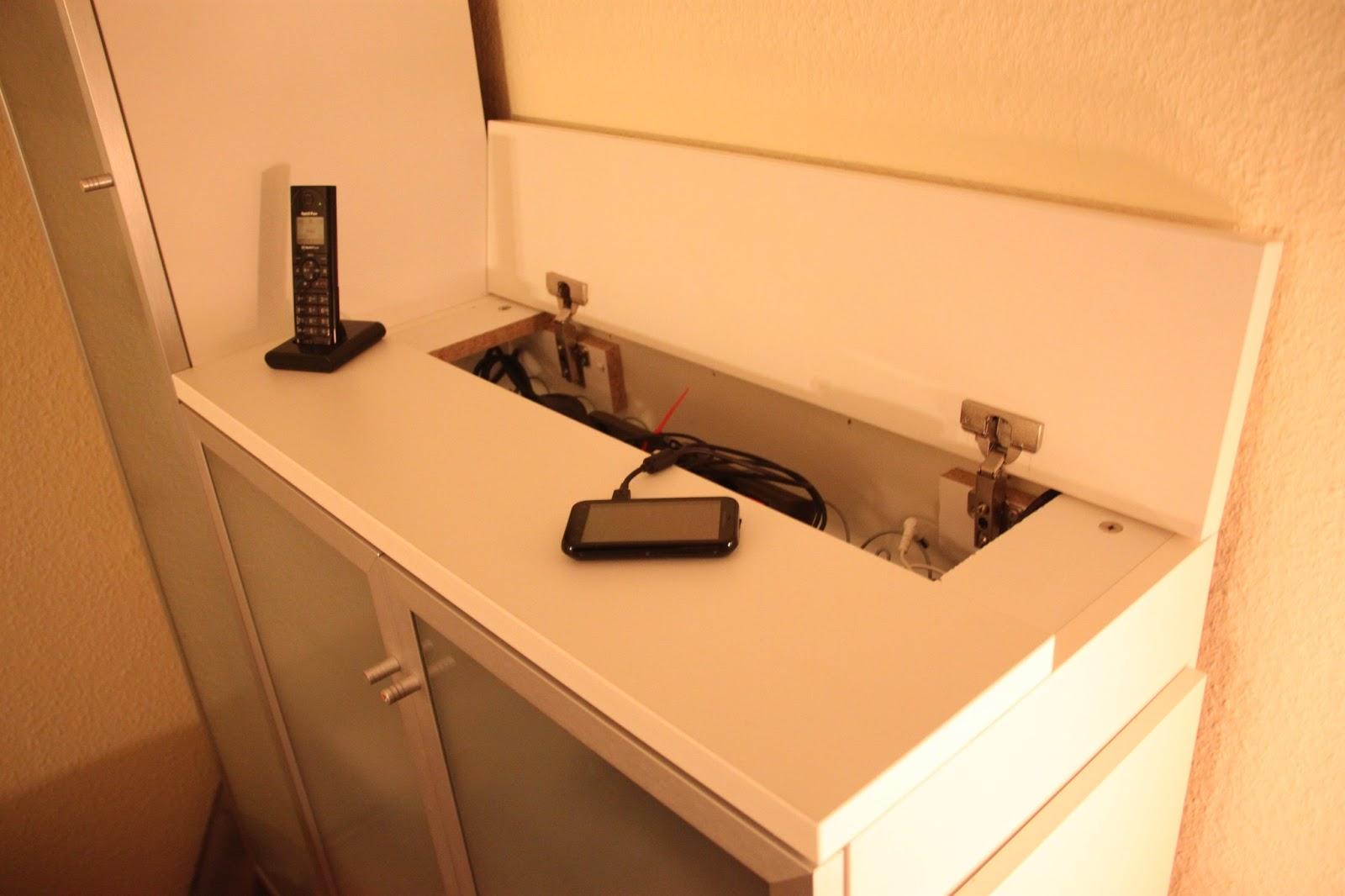 friedaworld ich bin ein ikea hacker kabelfach im sideboard. Black Bedroom Furniture Sets. Home Design Ideas