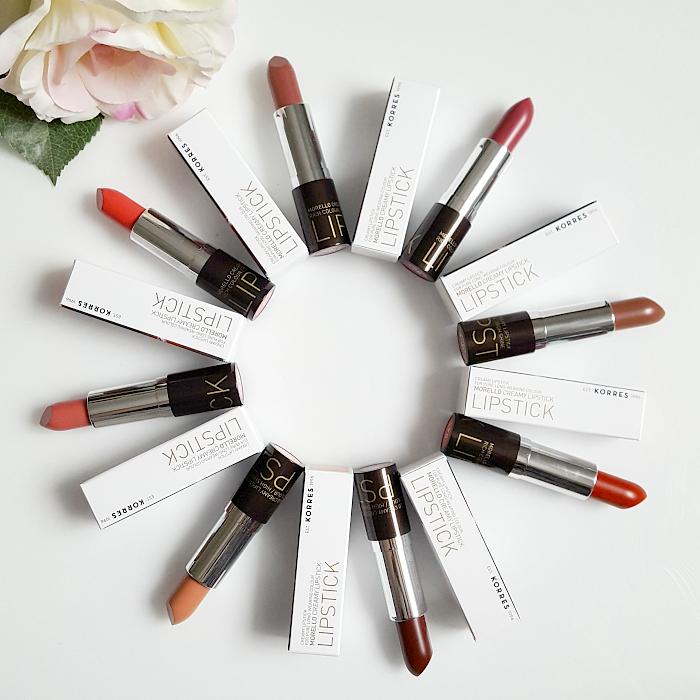 Review: KORRES Morello Creamy Lipsticks - 8 Farben - 3,5g - 23.00 Euro