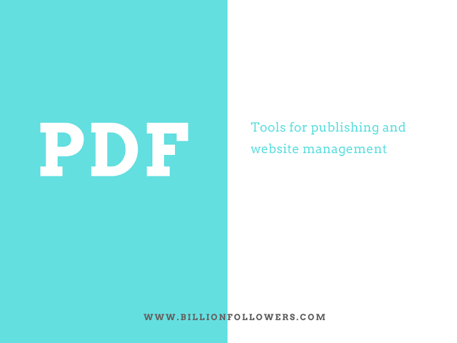 List of best PDF tools for publishing
