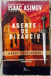 Portada del libro Agente de Bizancio, de Harry Turtledove