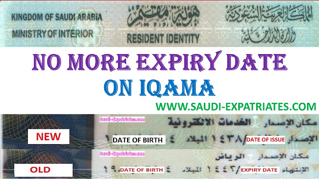 NO MORE EXPIRY DATE ON IQAMA