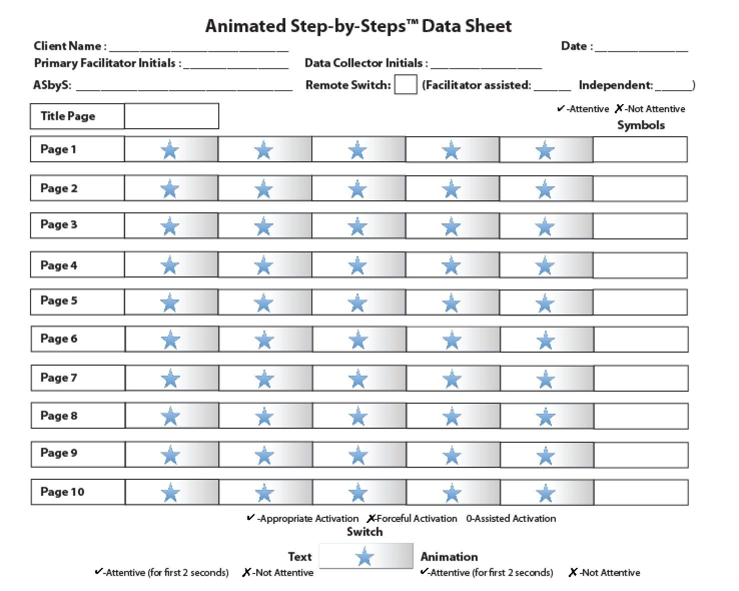 Animated step by steps asbys data sheet aba as you can see from the data sheet you must document the nameinitials of the primary facilitator the data collector and the name of the asbys that you biocorpaavc Image collections
