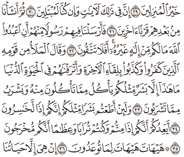 Tafsir Surat Al-Mu'minun Ayat 31, 32, 33, 34, 35