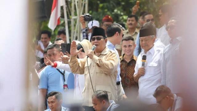 Prabowo: Kami Tak Rela Rakyat Sulit Cari Makan