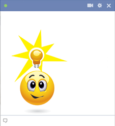 Idea emoticon with Facebook chat code