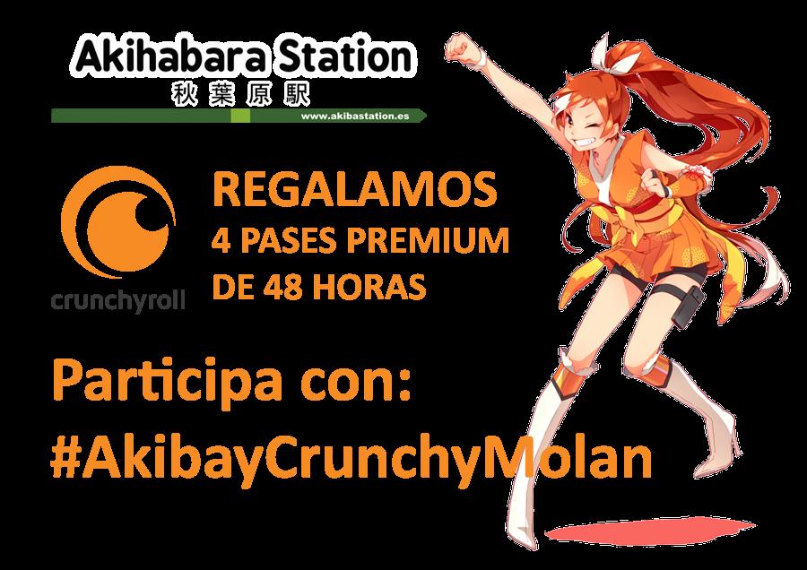 Regalamos 4 pases Premium de 48 horas de Crunchyroll