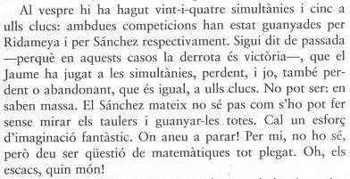 Extracto del libro del párroco de Castellar de N'Hug, mossèn Climent