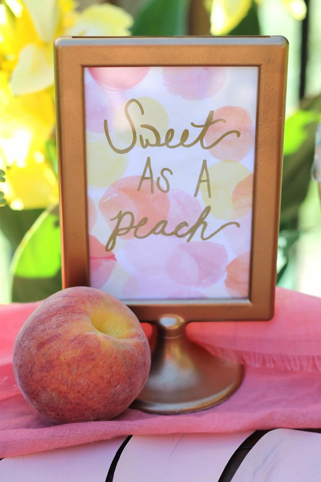 My Little Peach Baby Shower Ak Party Studio