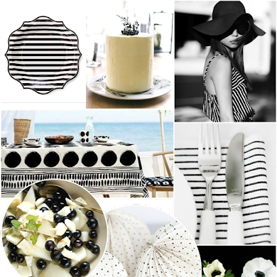 Monochromatic Black & White Summer Party Ideas