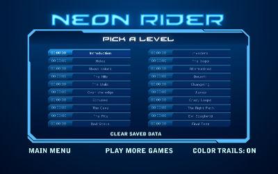 Neon Rider - Jeu de Course sur PC