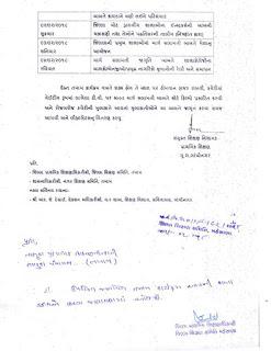 गुजरात राज्य रोड सेफ्टी वीक-2018नी उजवणी करवा ने हेतु प्रत्र शिक्षण विभाग गुजरात