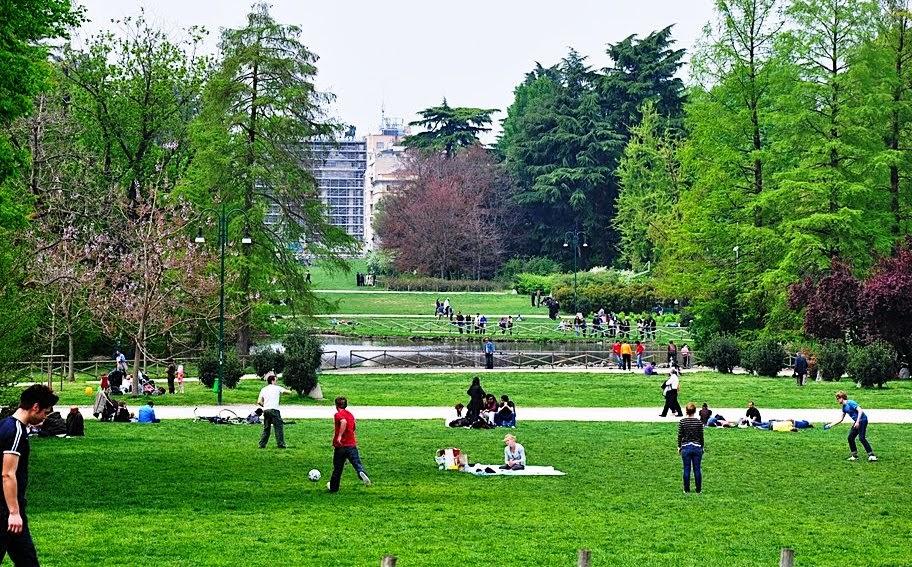Parque Parco Sempione em Milão