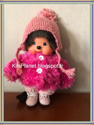 Bonnet péruvien fait main pour Kiki ou Monchhichi, handmade, tricot, vêtement