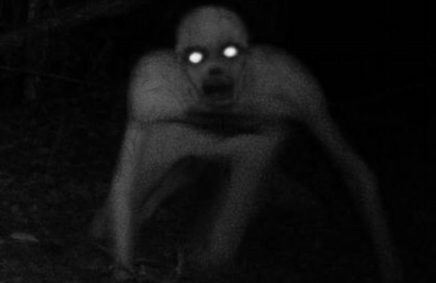 original terrifying ghost photo in night