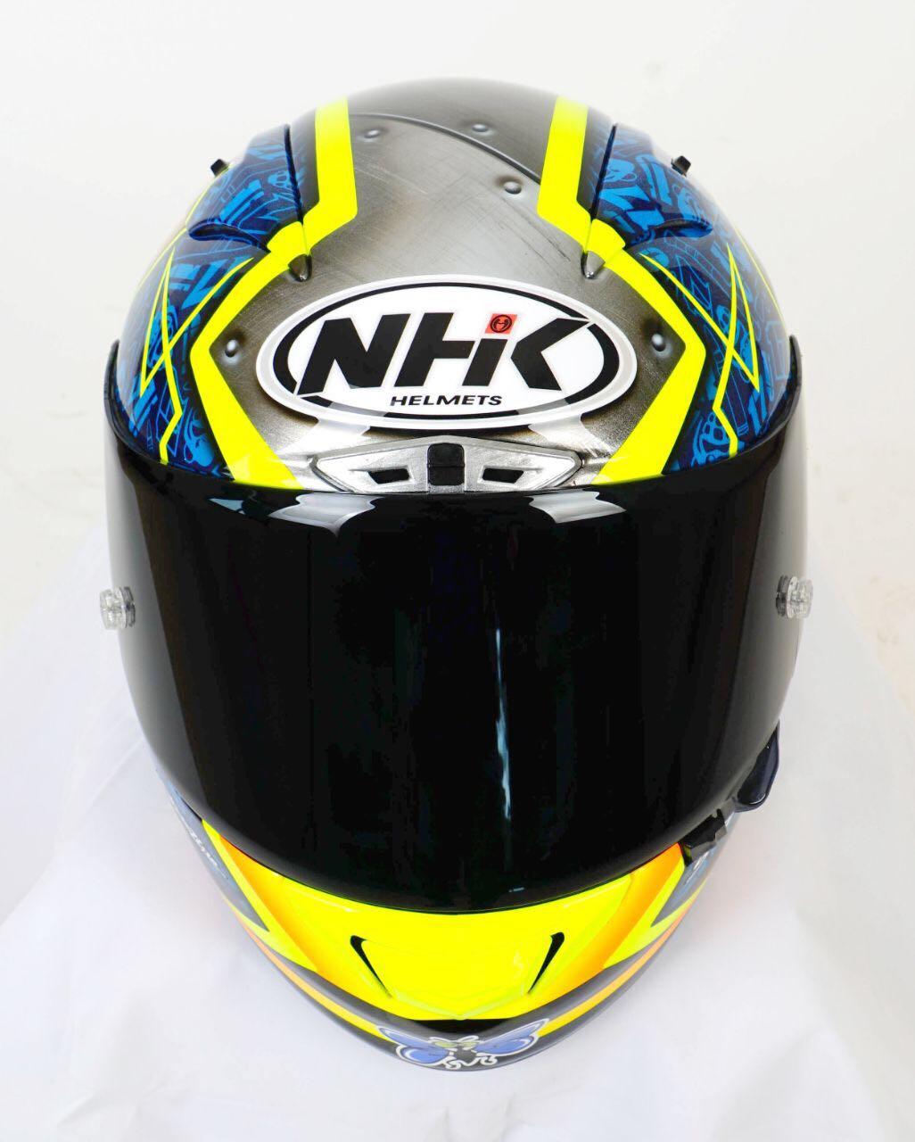 4661217a Racing Helmets Garage: NHK GP-R Tech K.Abraham 2018 #1 by Starline