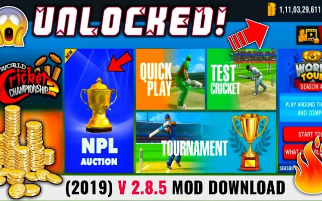 Download World Cricket Championship 2 Mod Apk Terbaru
