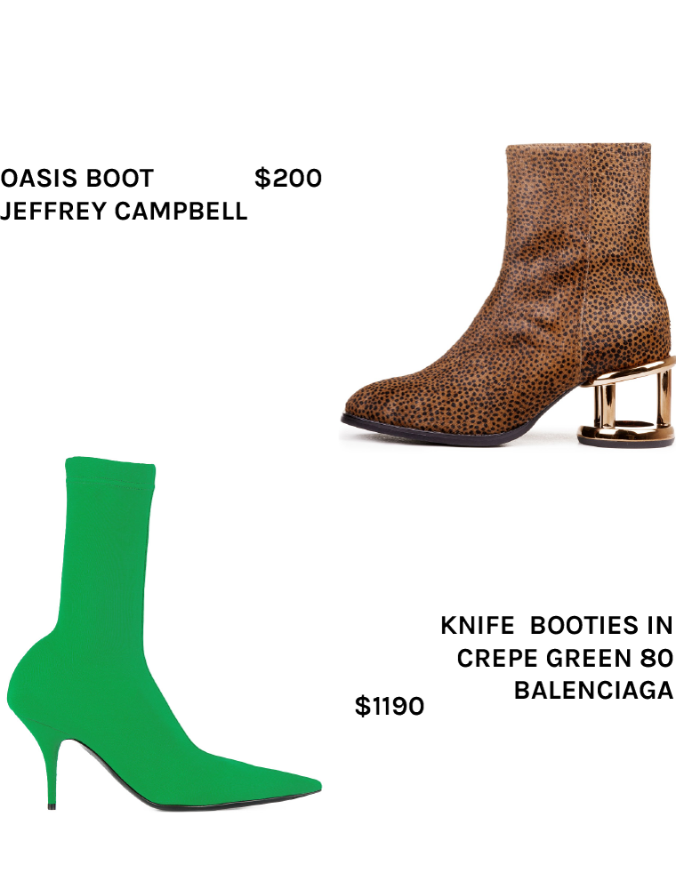 boot footwear Balenciaga knife Jeffrey Campbell